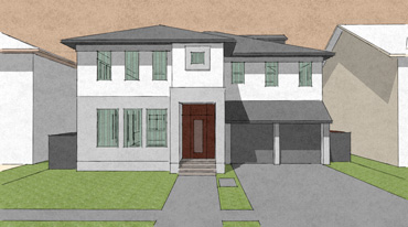 drawing of proposed home