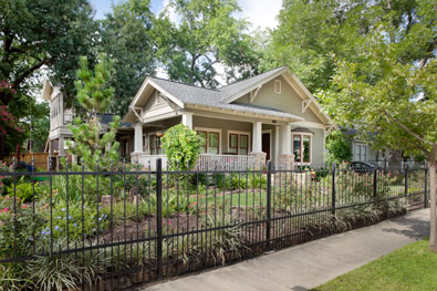 remodeled Woodland Heights craftsman-style bungalow