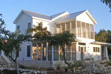 extrior of hill country house